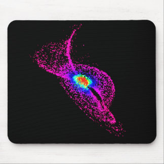 Rainbow and Purple Dot Design Mouse Pad