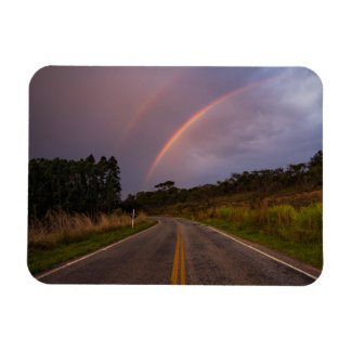 Rainbow And Road Magnet