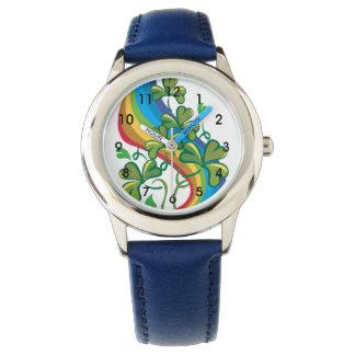 Rainbow And Shamrocks Wrist Watches