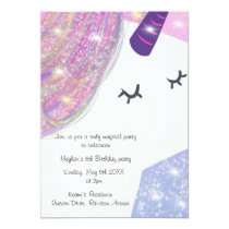 Rainbow and Sparkle Unicorn | Party Invitation