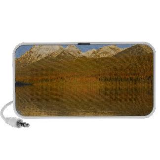 Rainbow and Square Peaks at sunset on autumn Portable Speaker