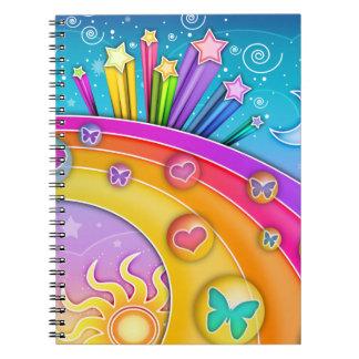 Rainbow and Stars Pop Art Notebook