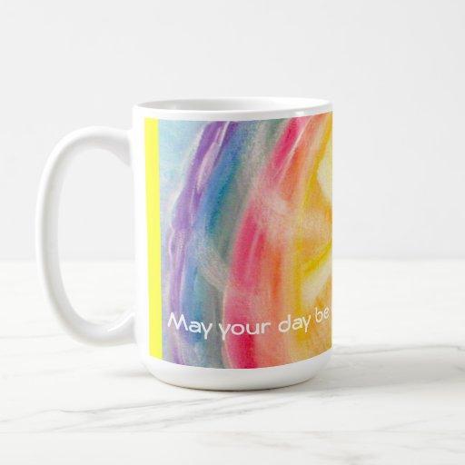 Rainbow and Sun Wishes Mug