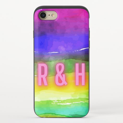 Rainbow And Text  iPhone 8/7 Slider Case