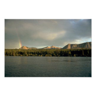 Rainbow and the Nahanni River, NWT, Canada Poster
