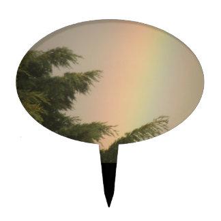 Rainbow and Trees Cake Pick