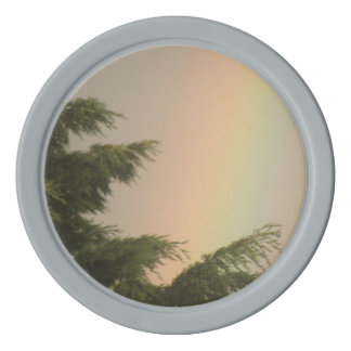 Rainbow and Trees Poker Chip Set