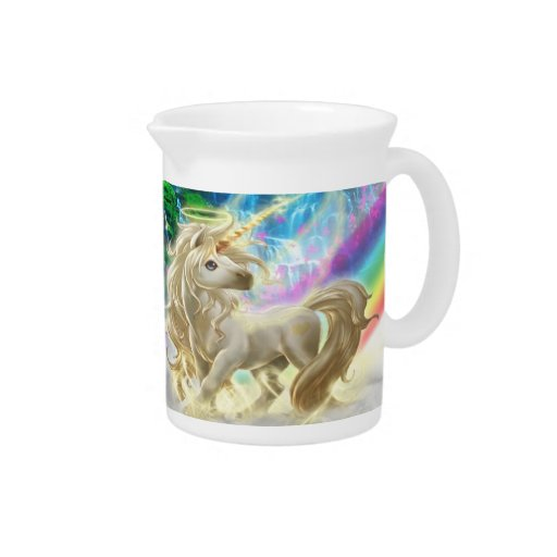 Rainbow And Unicorn Beverage Pitcher