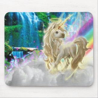 Rainbow And Unicorn Mouse Pad