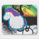 Rainbow And Unicorn Mousepad