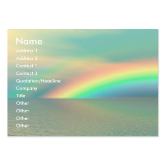 Rainbow and Water Large Business Card