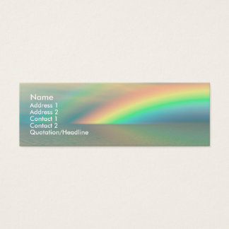 Rainbow and Water Mini Business Card