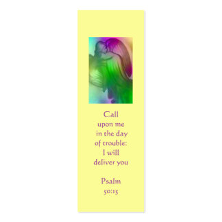 Rainbow Angel Book Marker Double-Sided Mini Business Cards (Pack Of 20)