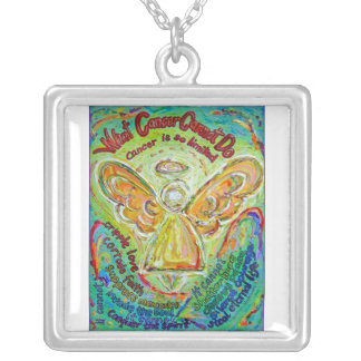 Rainbow Angel Cancer Cannot Necklace Jewelry