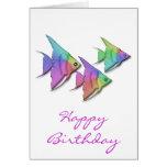 Rainbow Angel Fish Greeting Card