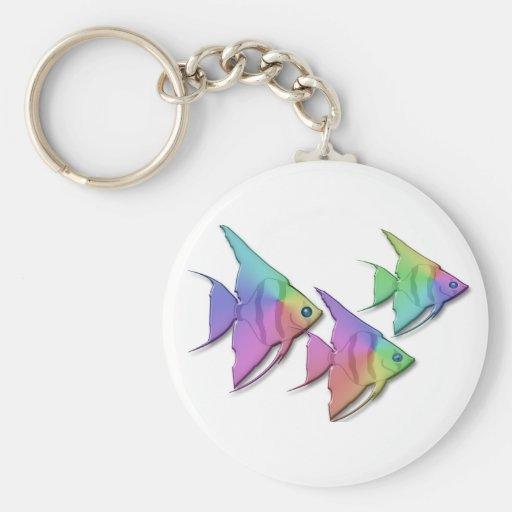 Rainbow Angel Fish Keychains