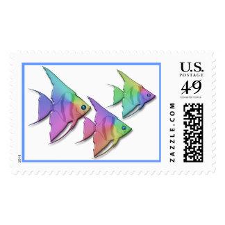 Rainbow Angel Fish Postage Stamps