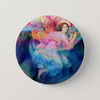 Rainbow Angel Pinback Button