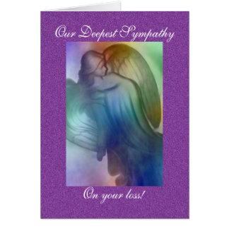 Rainbow Angel Sympathy Card