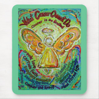Rainbow Angel What Cancer Cannot Do Mousepad