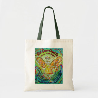 Rainbow Angel What Cancer Cannot Do Tote Bags