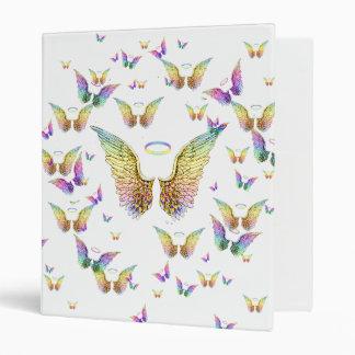 Rainbow Angel Wings and Halos Binder