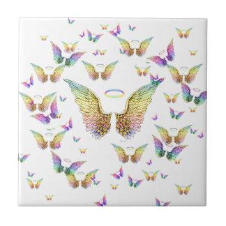 Rainbow Angel Wings and Halos Tiles
