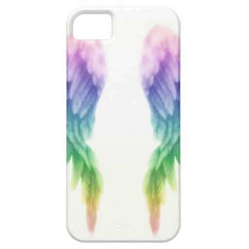 Rainbow Angel Wings Case For iPhone 5/5S
