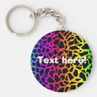 Rainbow animal print keychain