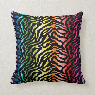 Rainbow Animal Print Throw Pillow