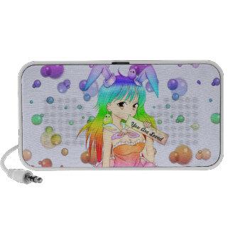 Rainbow Anime Bunny Girl Mp3 Speaker