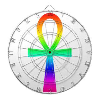 Rainbow Ankh Dartboard