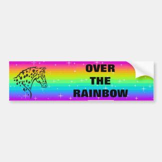 rainbow appaloosa round bumper sticker