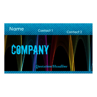 Rainbow Arches and Blue Grunge Business Card