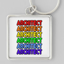 Rainbow Architect Keychain