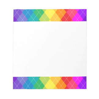 Rainbow Argyle Pattern Notepad