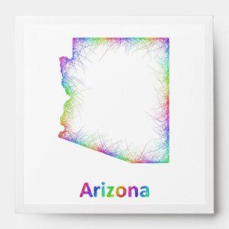 Rainbow Arizona map Envelope