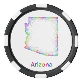 Rainbow loom poker chips
