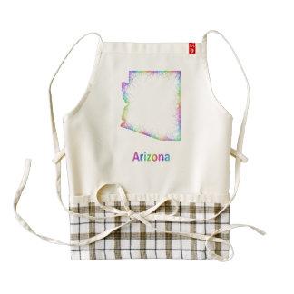 Rainbow Arizona map Zazzle HEART Apron