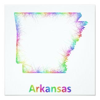 Rainbow Arkansas map Card