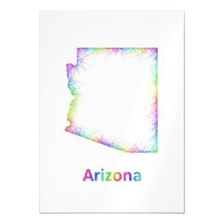 Rainbow Arkansas map Magnetic Card