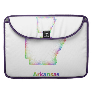 Rainbow Arkansas map Sleeve For MacBooks