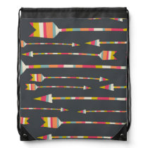 Rainbow Arrows Pattern Drawstring Backpack