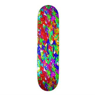 Rainbow Arrows Skate Board Deck