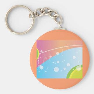 Rainbow Art Basic Round Button Keychain