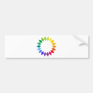 Rainbow Art Bumper Sticker