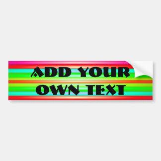 Rainbow Art Car Bumper Sticker