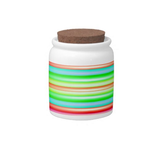 Rainbow Art Candy Jar