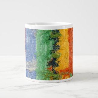 Rainbow Art Deco 20 Oz Large Ceramic Coffee Mug