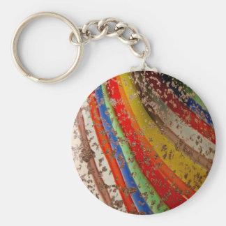 Rainbow Art Glass Keychain